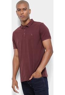 Camisa Polo Reserva Piquet Básica Masculina - Masculino-Vinho