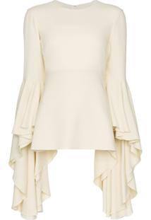 Giambattista Valli Ruffle Sleeve Blouse - Branco