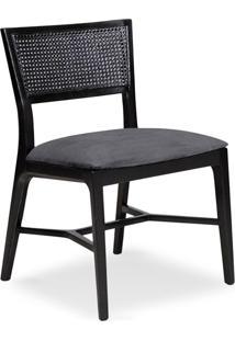 Cadeira Clara Tela E Madeira Maciça Design Clássico Avi Móveis