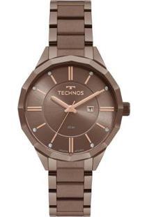 Relógio Technos Trend Feminino - Feminino-Marrom