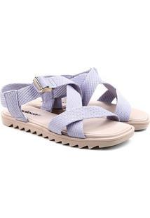 Sandália Moleca Tiras Cruzadas Feminina - Feminino-Jeans
