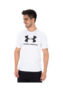 Camiseta Under Armour Logo Ss - Masculina - Branco