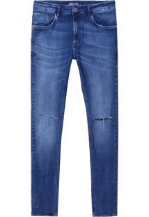 Calça John John Skinny Humos Masculina (Jeans Escuro, 38)