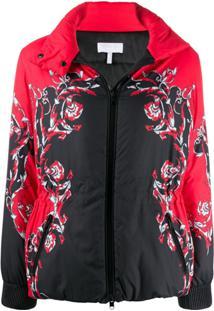 Escada Sport Contrast Print Jacket - Preto
