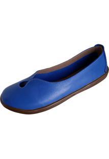 Sapatilha Scarpe Bico Redondo Azul