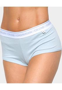 Calcinha Calvin Klein Boyshort Feminina - Feminino-Azul