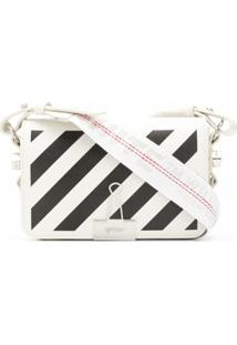Off-White Bolsa Diag Binder Clip Mini - Branco