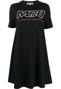 Mcq Alexander Mcqueen Vestido Com Estampa De Logo - Preto
