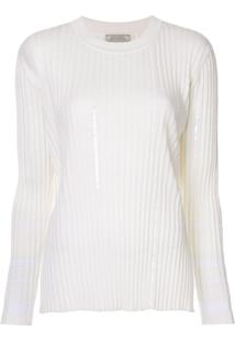Nina Ricci Suéter Canelado - Branco