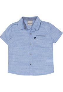 Camisa Com Bolso- Azul Claro- Bakulelêbakulelê