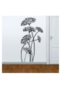 Adesivo De Parede Floral 37 - G 120X60Cm