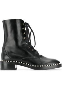 Stuart Weitzman Ankle Boot Com Amarração - Preto