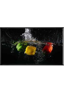 Quadro Decorativo Legumes- Preto & Amarelo- 40X70Cm