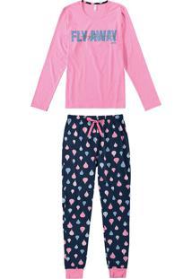 Pijama Feminino Estampado Com Amarrador Malwee Liberta