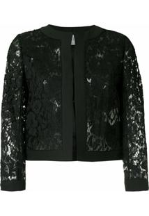 Valentino Jaqueta Em Renda Heavy Lace - Preto