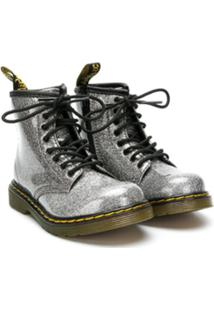 Dr. Martens Kids Ankle Boot Com Brilho - Metálico