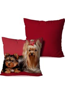 Kit 2 Capas Para Almofadas Decorativas Dogs 45X45Cm