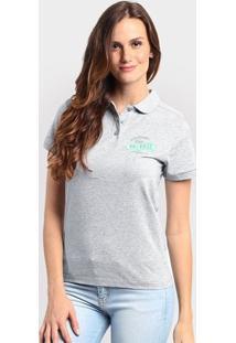 Camiseta Polo New Balance Cb Boucle - Feminino-Cinza