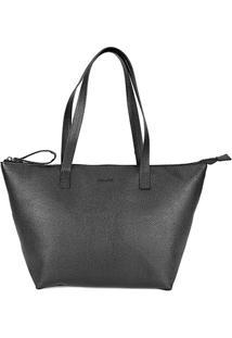 Bolsa Anacapri Shopper Eco Soft Floater Feminina - Feminino-Preto