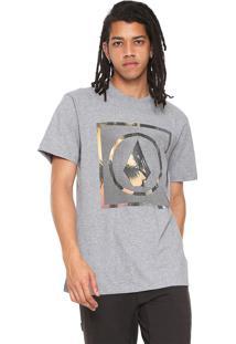 Camiseta Volcom Solid Stone Palms Cinza