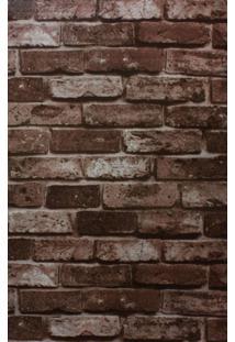 Papel De Parede Autoadesivo Tijolinhos Marrom - Chi5003 - Yins Home