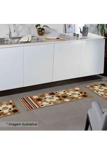 Jogo De Tapetes Para Cozinha Madrid- Marrom Claro & Off Oasis