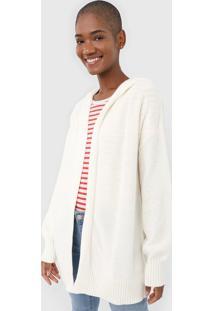 Maxi Cardigan Gap Tricot Texturizado Off-White - Off White - Feminino - Algodã£O - Dafiti