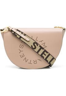 Stella Mccartney Bolsa Transversal Com Logo Stella - Marrom