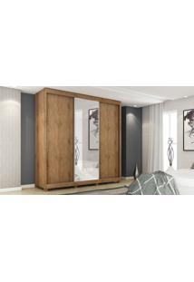 Guarda Roupa Safira 3 Portas E 1 Porta Com Espelho Madeirado Gelius Móveis - Tricae