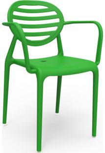 Cadeira Stripe Com Braço Verde
