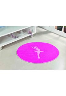 Tapete Formato Com Antiderrapante Bailarina 78Cm X 68Cm Pink
