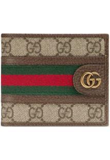 Gucci Carteira Ophidia Gg - Marrom