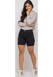 Bermuda Básica Almaria Plus Size Shyros Jeans Pret