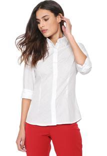 Camisa Dudalina Estrelas Branca
