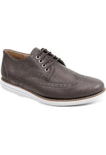 Sapato Esporte Fino Masculino Oxford Sandro Moscoloni Creed Marrom Escuro