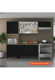 Cozinha Compacta Itamaxi 7 Pt 1 Gv Preta E Inox