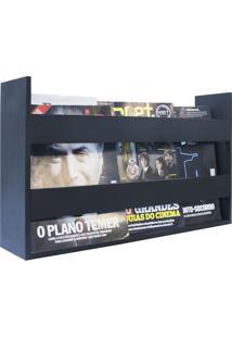 Porta Livros E Revistas De Parede 50X30X11 Preto