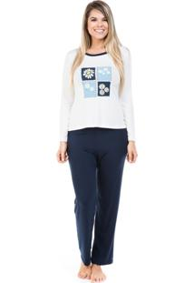 Pijama Dulmar De Viscolycra Com Blusa Estampada