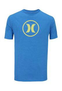 Camiseta Hurley Silk Círculo - Masculina - Azul Mescla