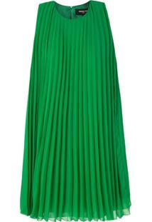 Paule Ka Vestido Reto Com Pregas - Verde