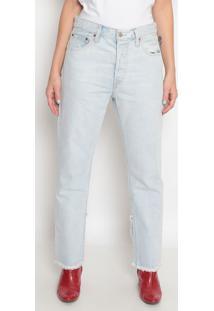 Jeans 501® Cropped Com Zíper- Azul Clarolevis