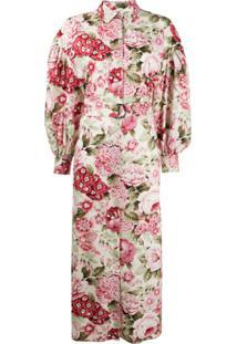 P.A.R.O.S.H. Vestido Com Estampa Floral - Neutro