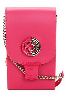 Bolsa Petite Jolie Mini Bag Phone Case Plus Feminina - Feminino-Rosa