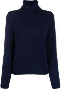 Ba&Sh Suéter Com Renda - Azul