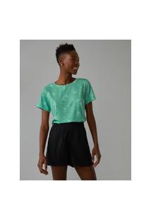 Amaro Feminino Camiseta Estampada Special, Mini Flower Light