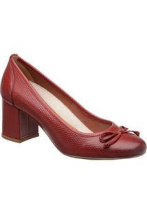 a42126625 Privalia. Sapato Com Salto Feminino Verniz Couro Bico Arredondado  Tradicional Publish Vermelho ...
