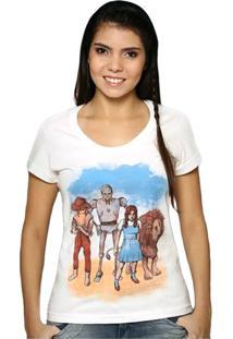 Camiseta Feminina O Mágico De Oz Geek10 - Branco