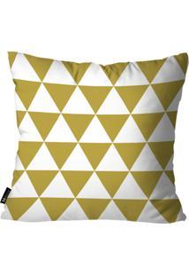 Capa Para Almofadas Mdecore Geométrica 45X45Cm Dourado