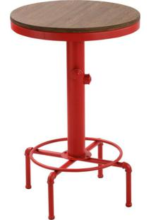 Mesa Bistrô Redonda Comodoro Vermelha