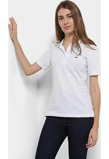 Camisa Polo Tommy Hilfiger Classics Feminina - Feminino-Branco